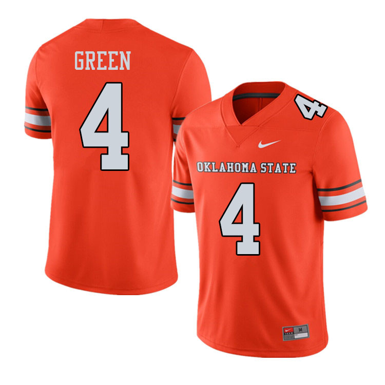 Men #4 A.J. Green Oklahoma State Cowboys College Football Jerseys Sale-Alternate Orange