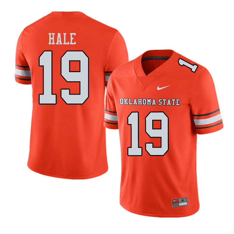 Men #19 Alex Hale Oklahoma State Cowboys College Football Jerseys Sale-Alternate Orange