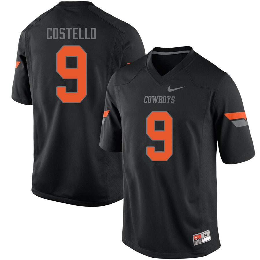 Men #9 Brendan Costello Oklahoma State Cowboys College Football Jerseys Sale-Black