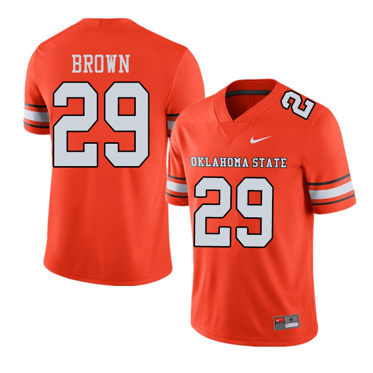 Men #29 Bryce Brown Oklahoma State Cowboys College Football Jerseys Sale-Alternate Orange