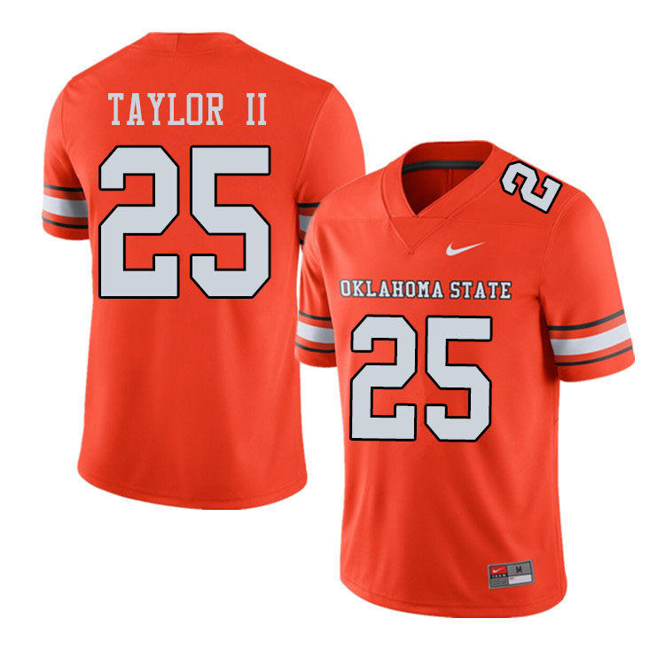 Men #25 Jason Taylor II Oklahoma State Cowboys College Football Jerseys Sale-Alternate Orange