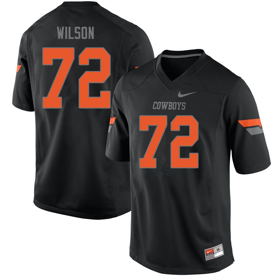 Men #72 Johnny Wilson Oklahoma State Cowboys College Football Jerseys Sale-Black