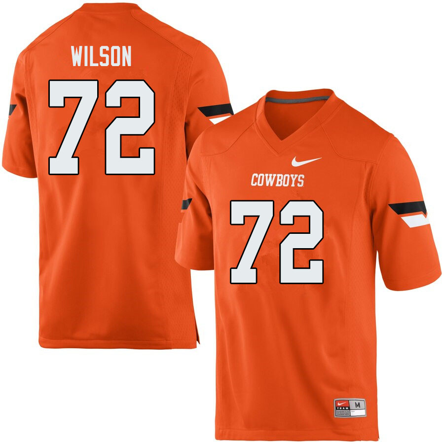 Men #72 Johnny Wilson Oklahoma State Cowboys College Football Jerseys Sale-Orange