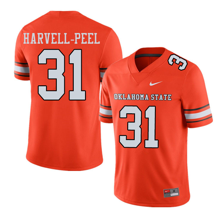 Men #31 Kolby Harvell-Peel Oklahoma State Cowboys College Football Jerseys Sale-Alternate Orange