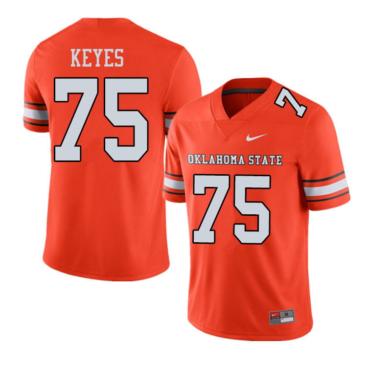 Men #75 Marcus Keyes Oklahoma State Cowboys College Football Jerseys Sale-Alternate Orange