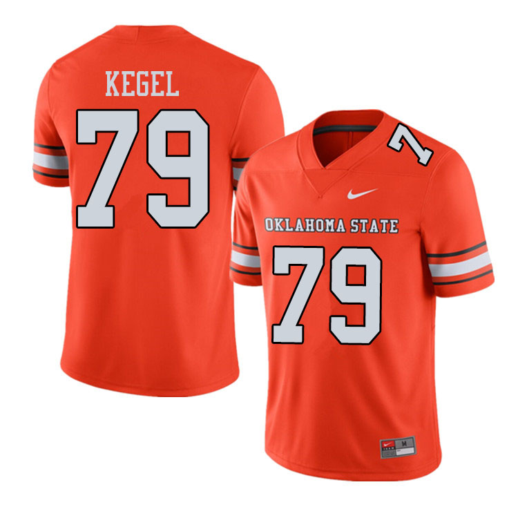 Men #79 Matt Kegel Oklahoma State Cowboys College Football Jerseys Sale-Alternate Orange