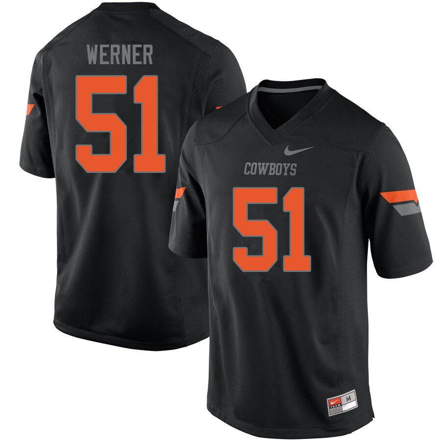 Men #51 Matthew Werner Oklahoma State Cowboys College Football Jerseys Sale-Black
