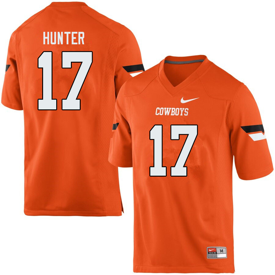 Men #17 Michael Hunter Oklahoma State Cowboys College Football Jerseys Sale-Orange
