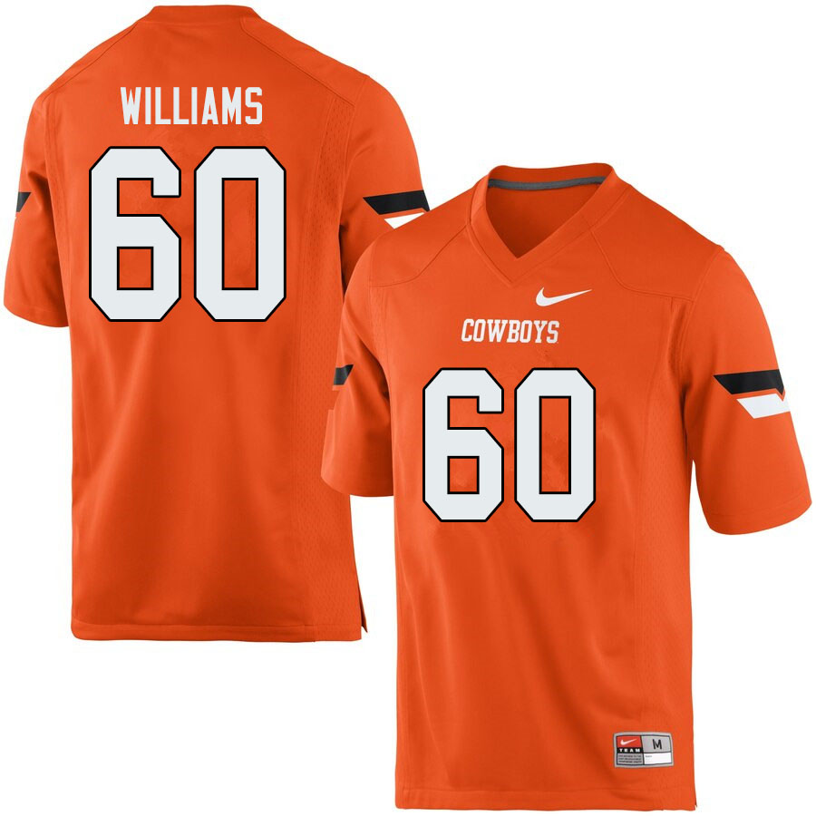 Men #60 Tyrese Williams Oklahoma State Cowboys College Football Jerseys Sale-Orange