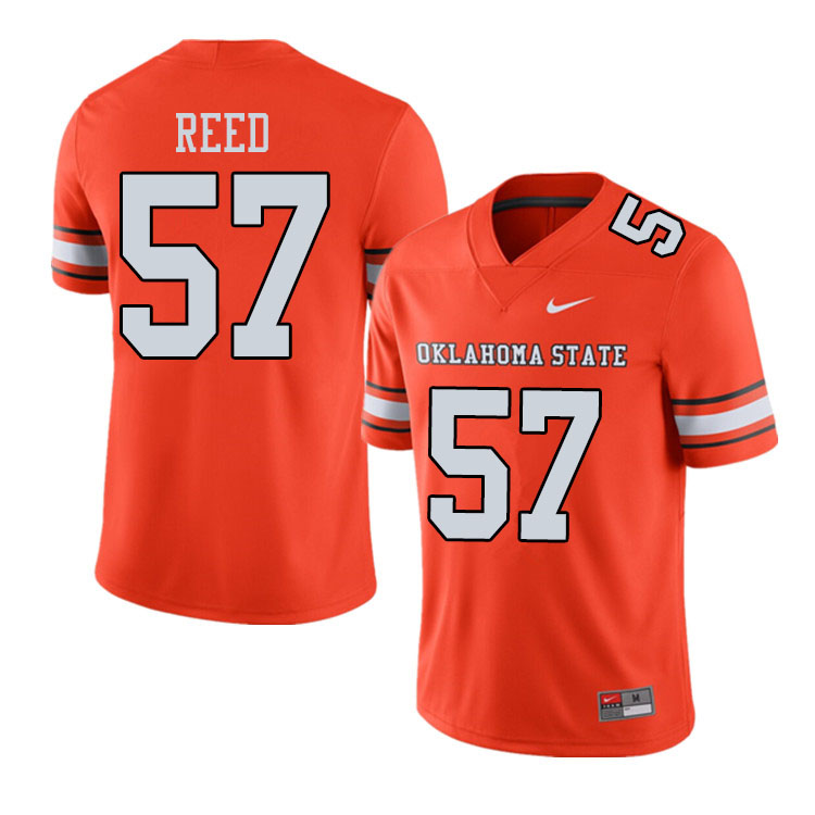 Men #57 Walker Reed Oklahoma State Cowboys College Football Jerseys Sale-Alternate Orange