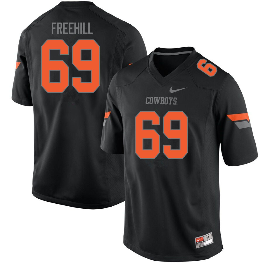 Men #69 Ben Freehill Oklahoma State Cowboys College Football Jerseys Sale-Black