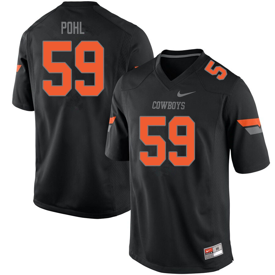 Men #59 Brady Pohl Oklahoma State Cowboys College Football Jerseys Sale-Black