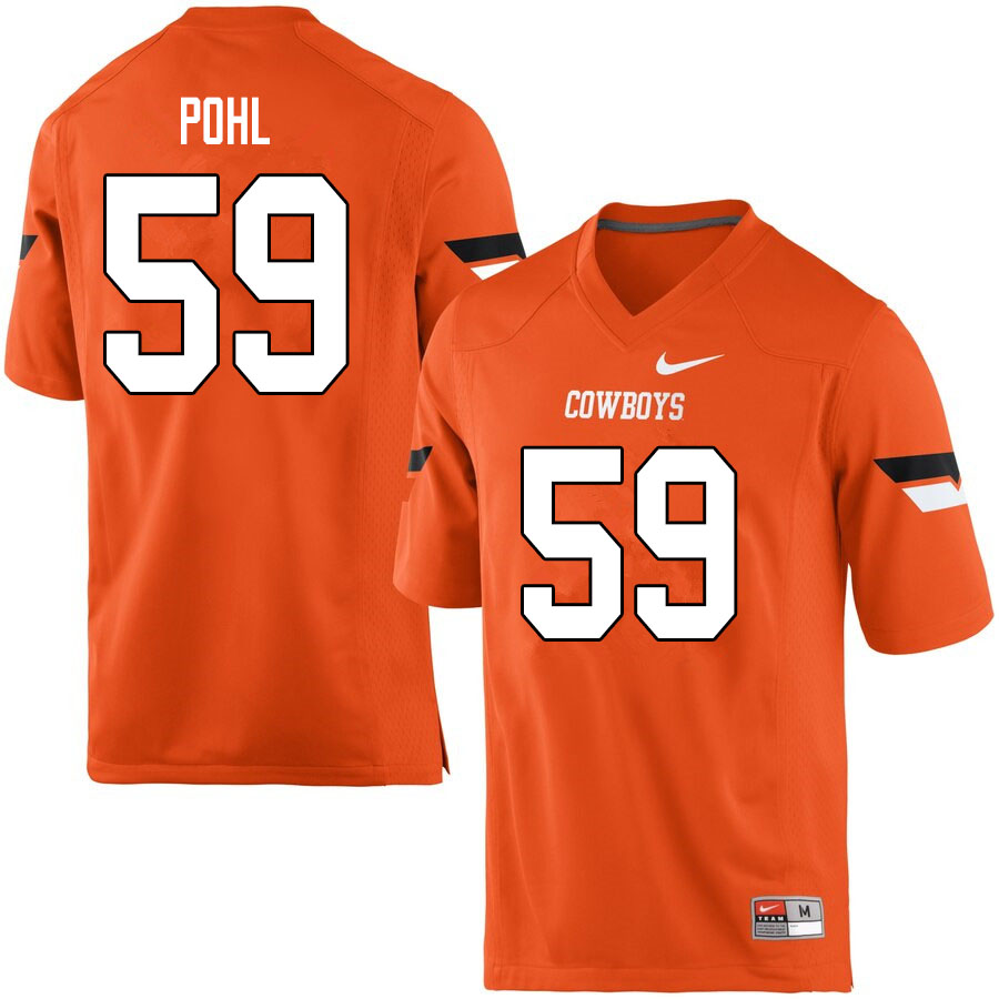 Men #59 Brady Pohl Oklahoma State Cowboys College Football Jerseys Sale-Orange