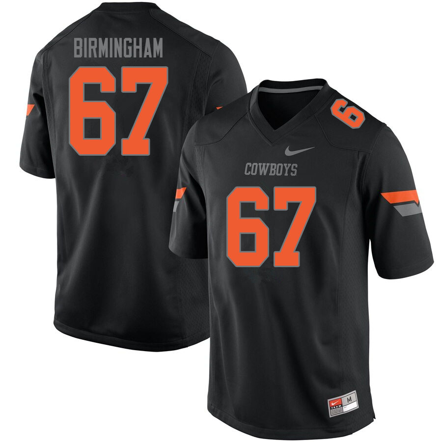Men #67 Cole Birmingham Oklahoma State Cowboys College Football Jerseys Sale-Black