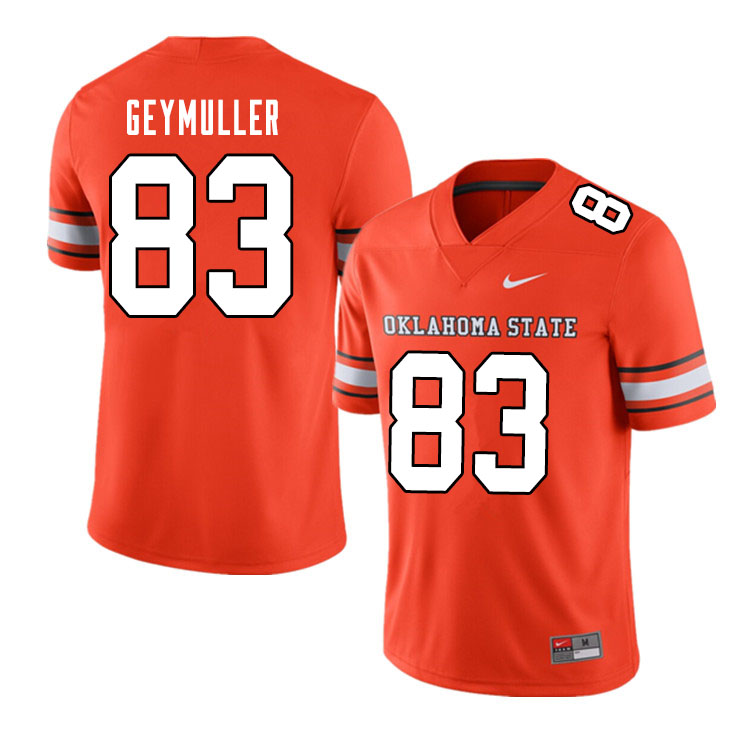 Men #83 Gordie Geymuller Oklahoma State Cowboys College Football Jerseys Sale-Alternate Orange