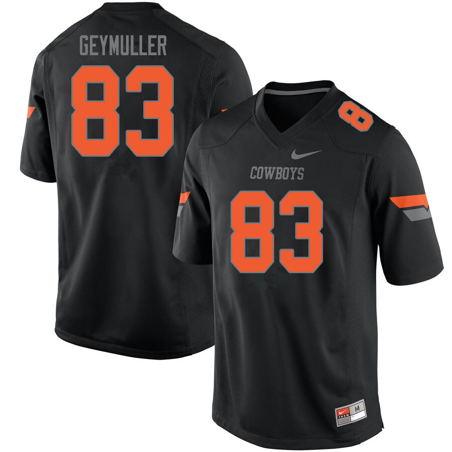 Men #83 Gordie Geymuller Oklahoma State Cowboys College Football Jerseys Sale-Black