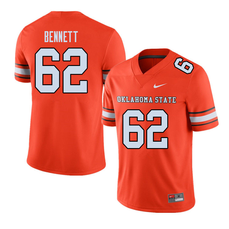 Men #62 Cade Bennett Oklahoma State Cowboys College Football Jerseys Sale-Alternate