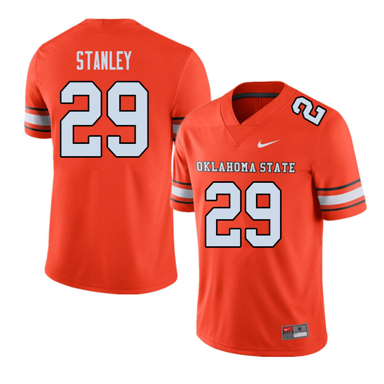 Men #29 Cole Stanley Oklahoma State Cowboys College Football Jerseys Sale-Alternate