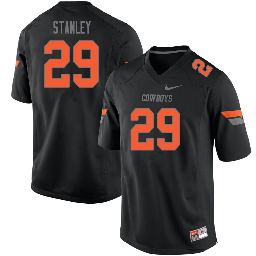 Men #29 Cole Stanley Oklahoma State Cowboys College Football Jerseys Sale-Black