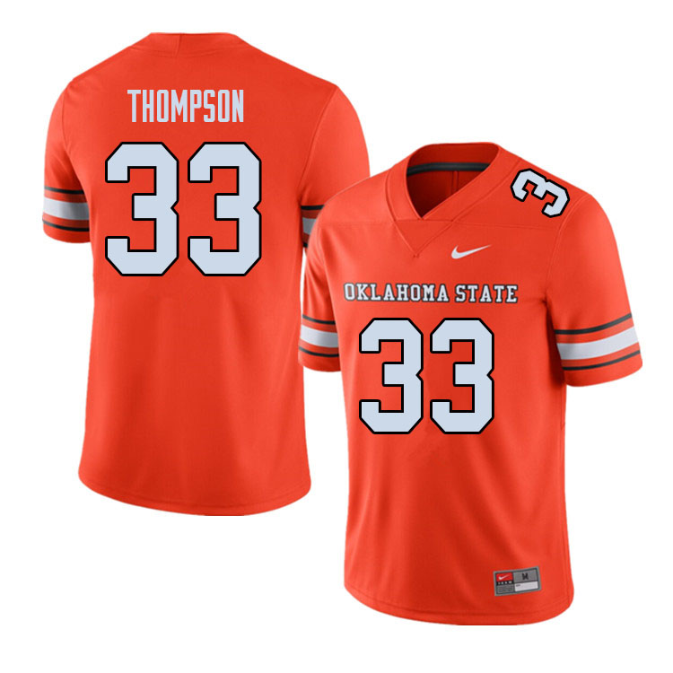 Men #33 Cole Thompson Oklahoma State Cowboys College Football Jerseys Sale-Alternate