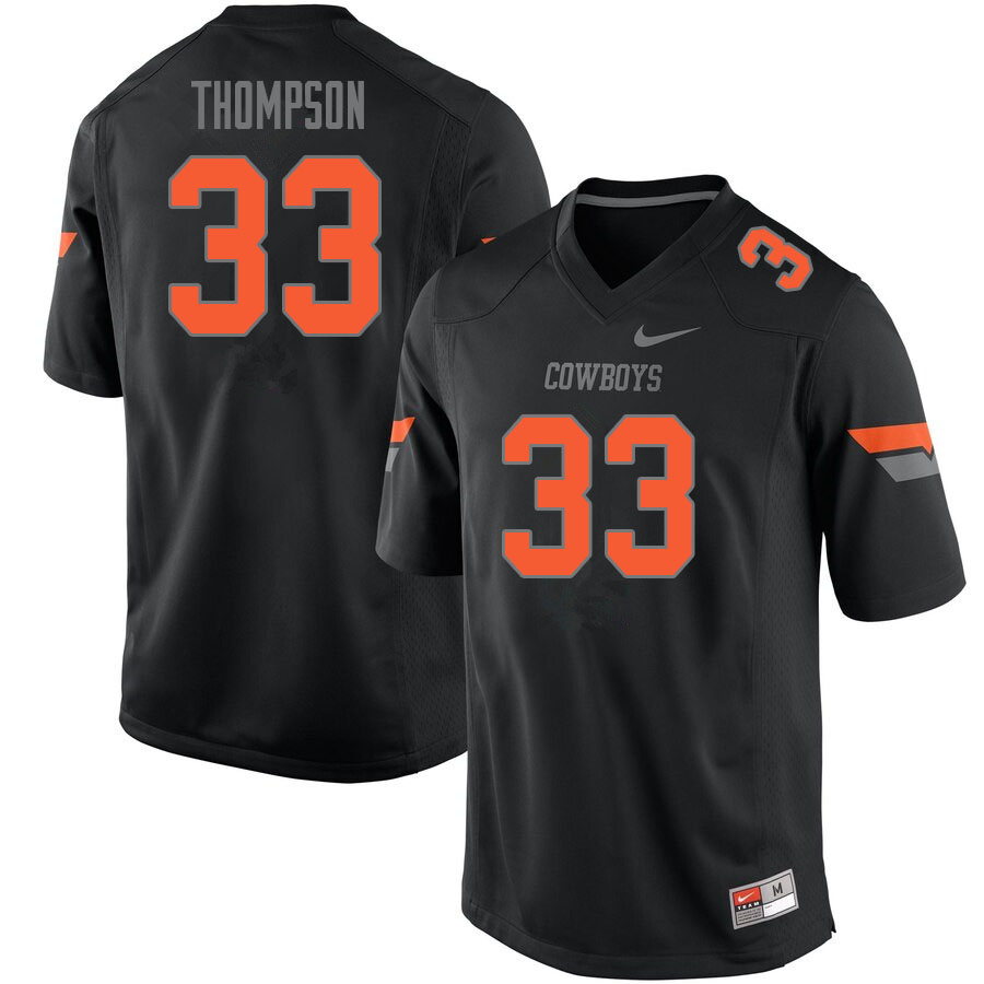 Men #33 Cole Thompson Oklahoma State Cowboys College Football Jerseys Sale-Black