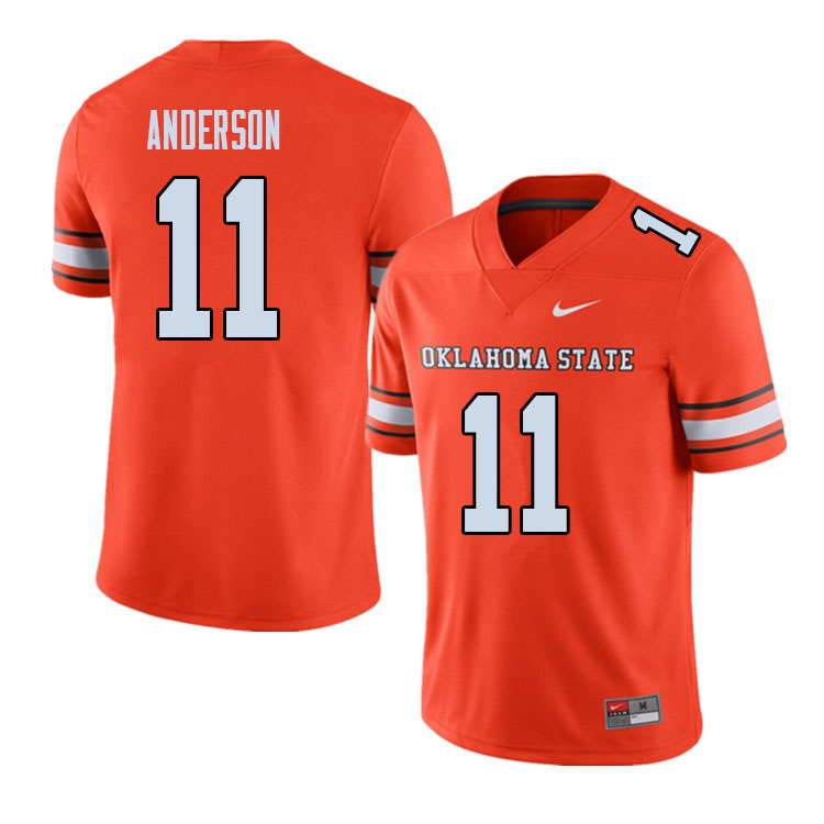 Men #11 Dee Anderson Oklahoma State Cowboys College Football Jerseys Sale-Alternate