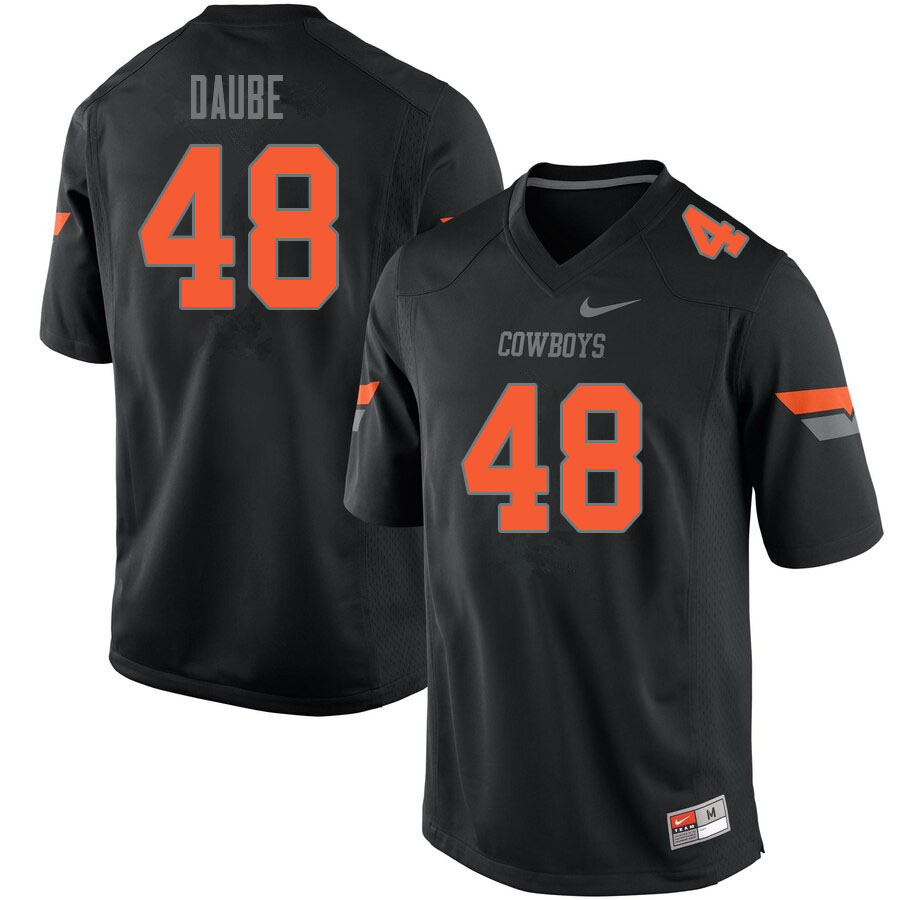 Men #48 Joseph Daube Oklahoma State Cowboys College Football Jerseys Sale-Black