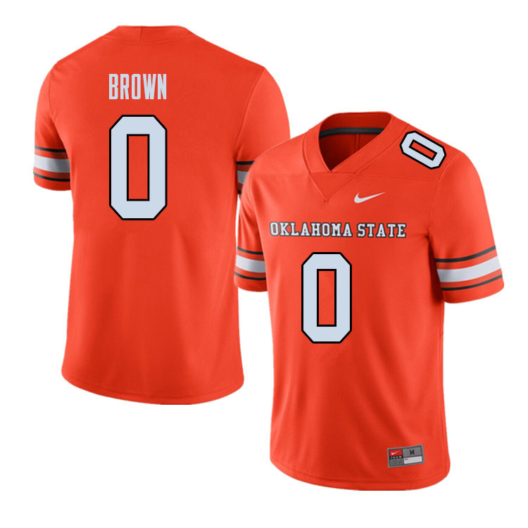 Men #0 LD Brown Oklahoma State Cowboys College Football Jerseys Sale-Alternate