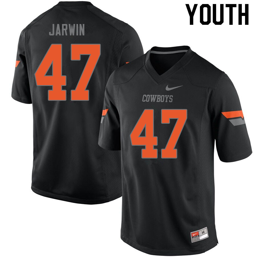 Youth #47 Blake Jarwin Oklahoma State Cowboys College Football Jerseys Sale-Black