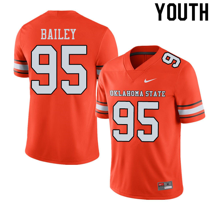 Youth #95 Dan Bailey Oklahoma State Cowboys College Football Jerseys Sale-Alternate Orange