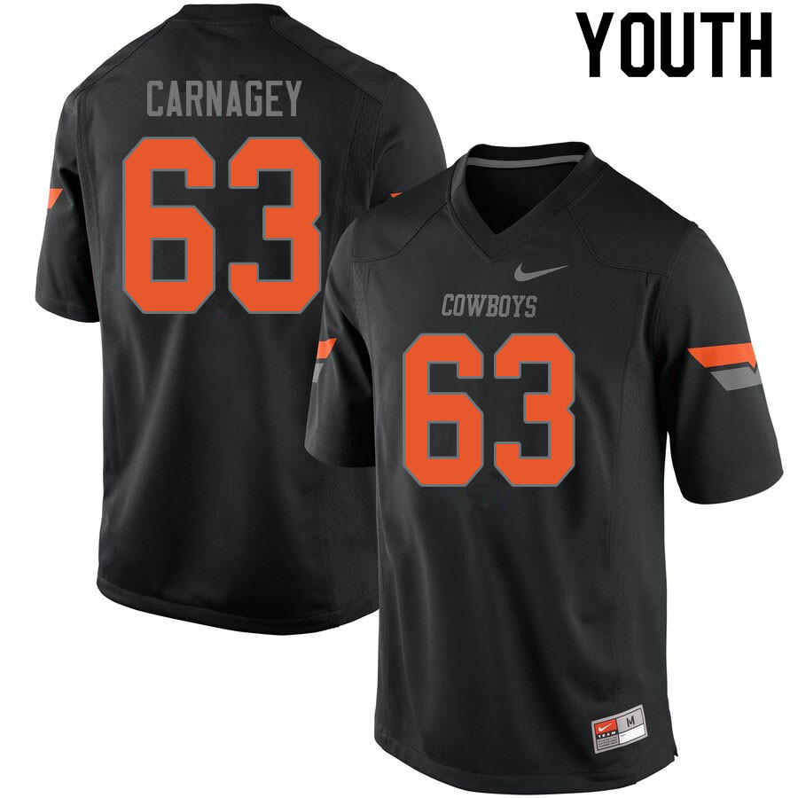 Youth #63 Dylon Carnagey Oklahoma State Cowboys College Football Jerseys Sale-Black