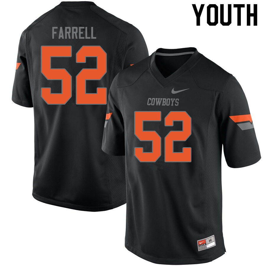 Youth #52 Jacob Farrell Oklahoma State Cowboys College Football Jerseys Sale-Black
