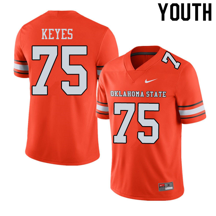 Youth #75 Marcus Keyes Oklahoma State Cowboys College Football Jerseys Sale-Alternate Orange