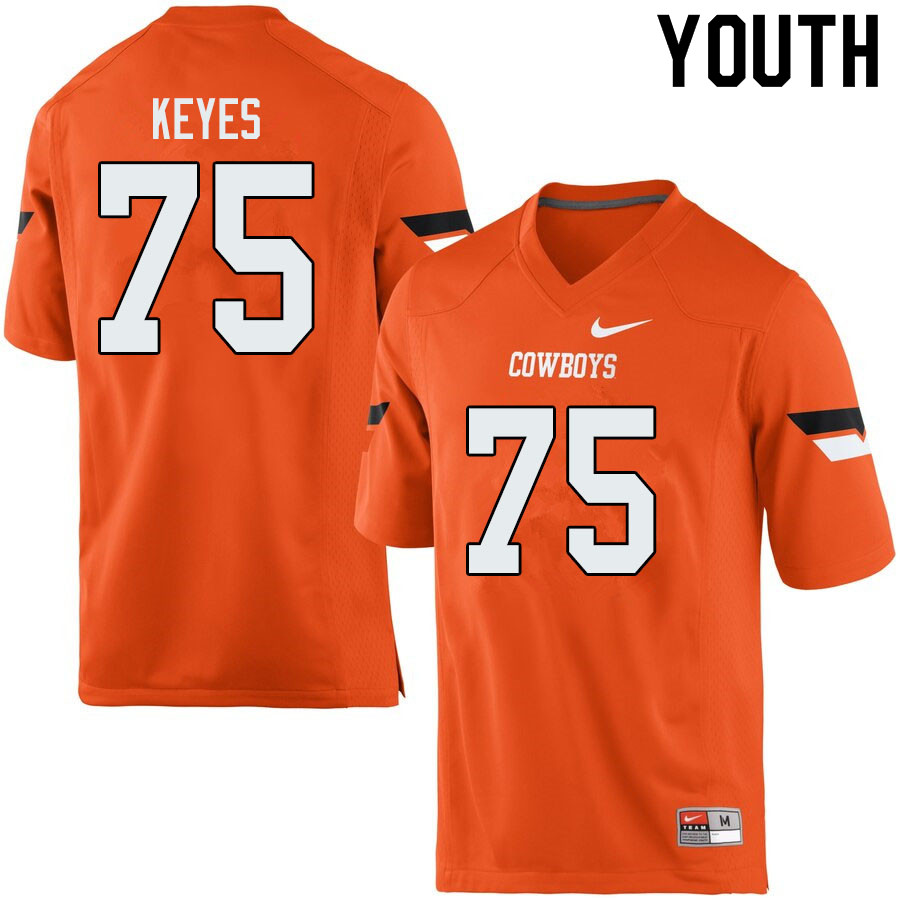 Youth #75 Marcus Keyes Oklahoma State Cowboys College Football Jerseys Sale-Orange