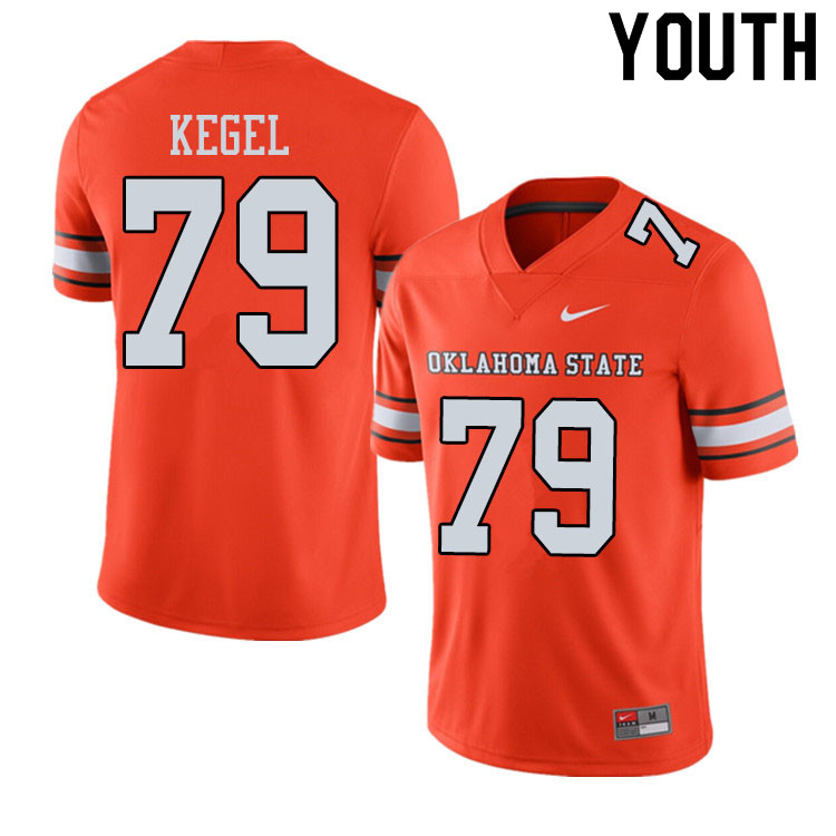 Youth #79 Matt Kegel Oklahoma State Cowboys College Football Jerseys Sale-Alternate Orange