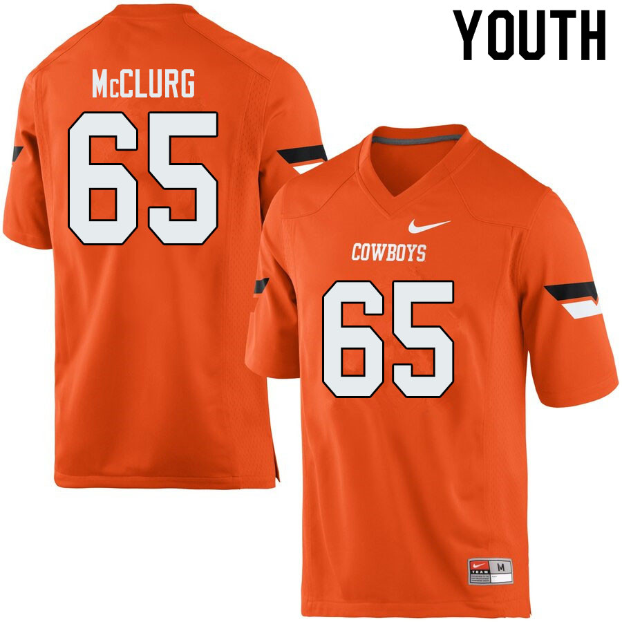 Youth #65 Matt McClurg Oklahoma State Cowboys College Football Jerseys Sale-Orange