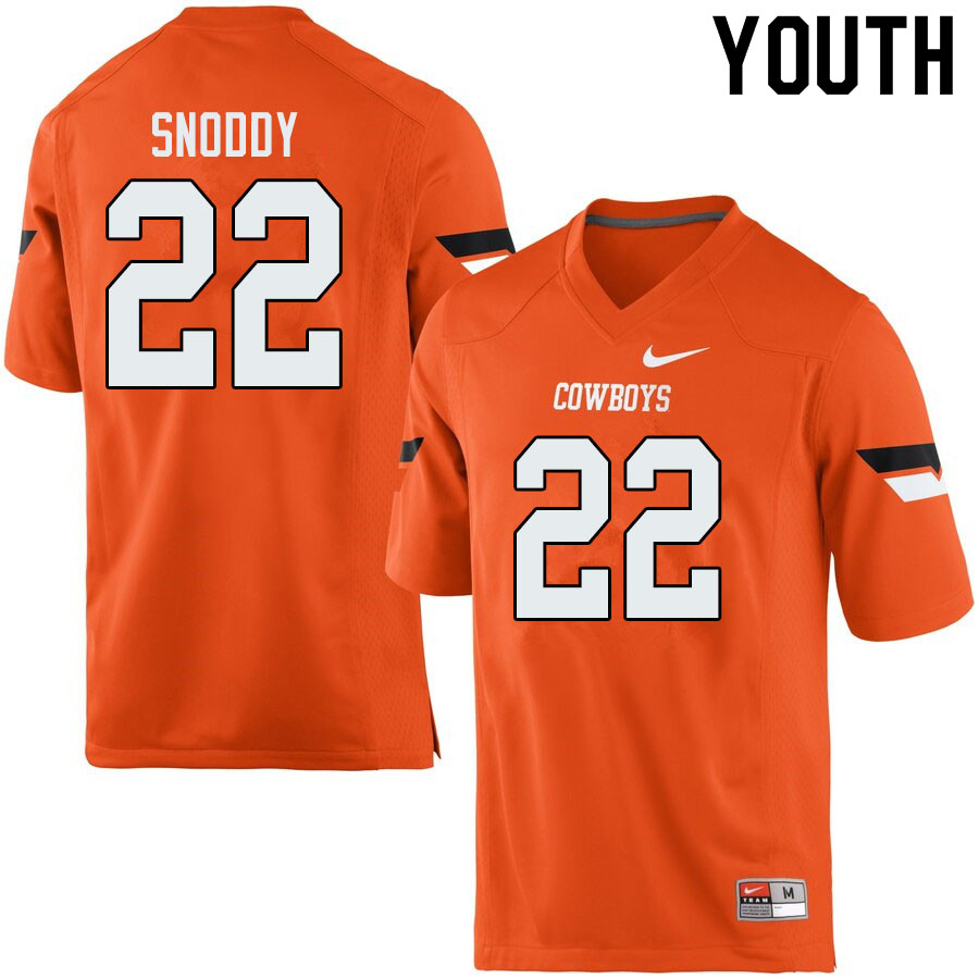 Youth #22 Mbari Snoddy Oklahoma State Cowboys College Football Jerseys Sale-Orange