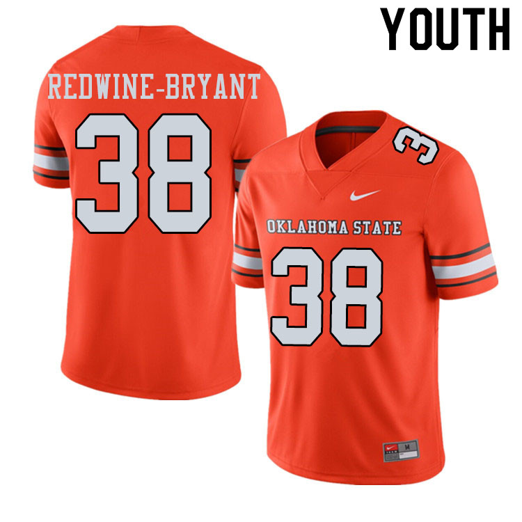 Youth #38 Philip Redwine-Bryant Oklahoma State Cowboys College Football Jerseys Sale-Alternate Orang