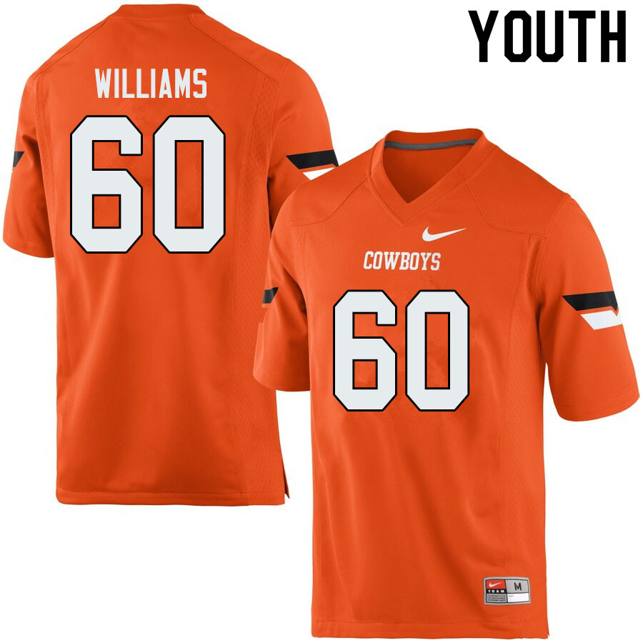 Youth #60 Tyrese Williams Oklahoma State Cowboys College Football Jerseys Sale-Orange