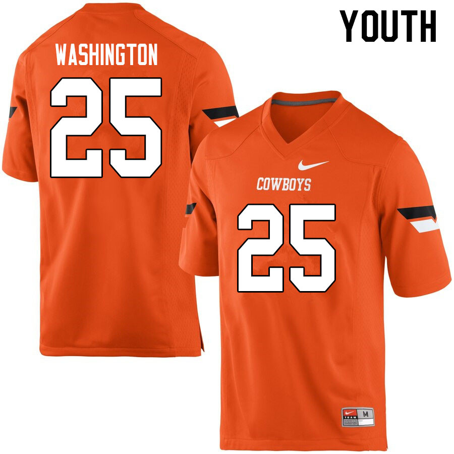Youth #25 Andre Washington Oklahoma State Cowboys College Football Jerseys Sale-Orange