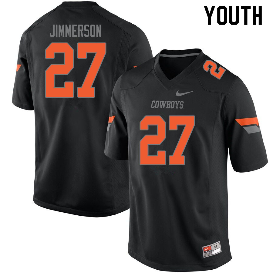 Youth #27 Anthony Jimmerson Oklahoma State Cowboys College Football Jerseys Sale-Black