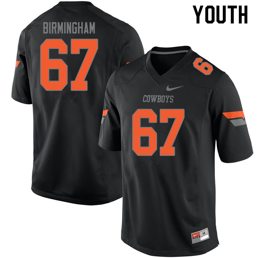 Youth #67 Cole Birmingham Oklahoma State Cowboys College Football Jerseys Sale-Black