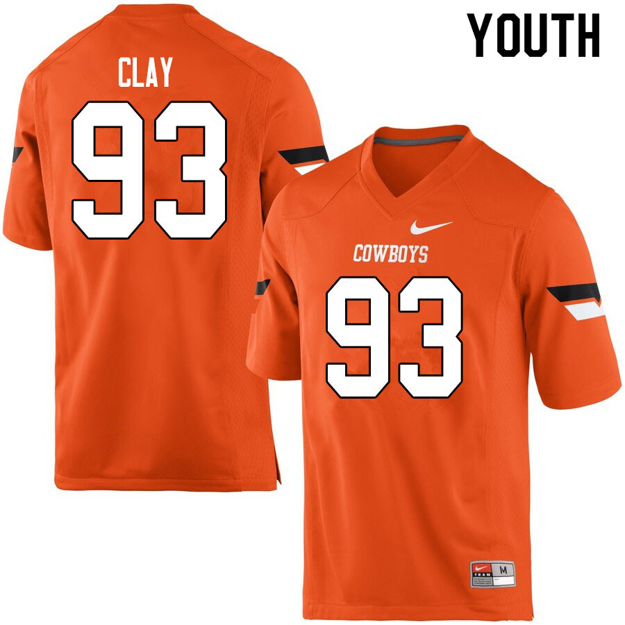 Youth #93 Collin Clay Oklahoma State Cowboys College Football Jerseys Sale-Orange