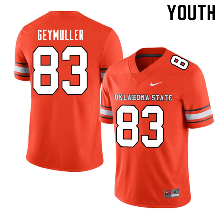 Youth #83 Gordie Geymuller Oklahoma State Cowboys College Football Jerseys Sale-Alternate Orange