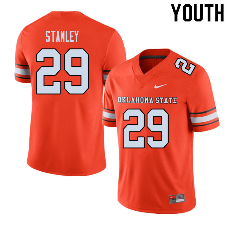 Youth #29 Cole Stanley Oklahoma State Cowboys College Football Jerseys Sale-Alternate