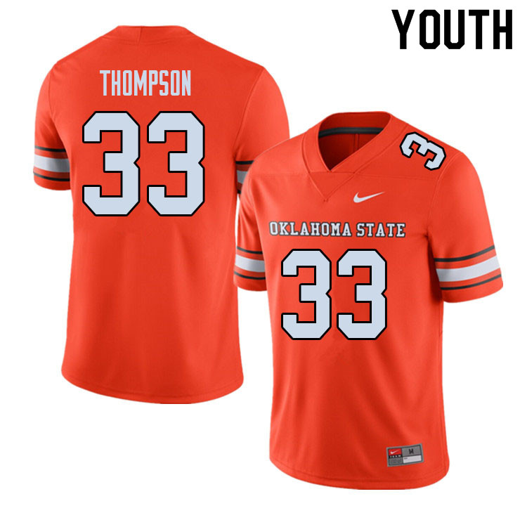Youth #33 Cole Thompson Oklahoma State Cowboys College Football Jerseys Sale-Alternate