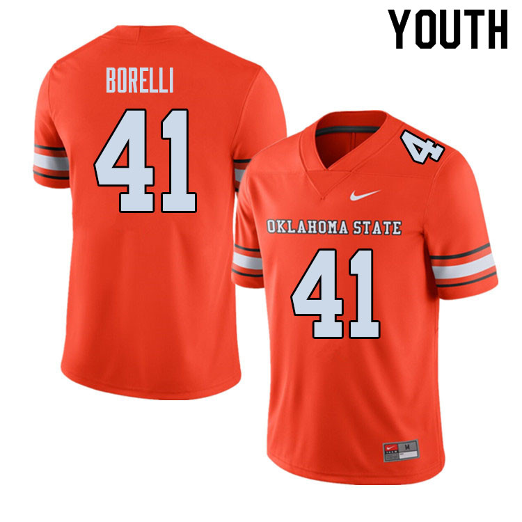 Youth #41 Constantino Borelli Oklahoma State Cowboys College Football Jerseys Sale-Alternate